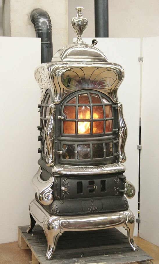 American Heating cast-iron stove from Prague produced under licence based on an American original