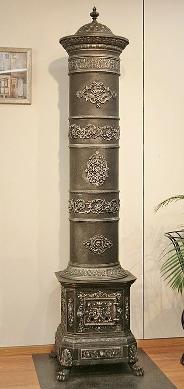 Cast-iron stove no. 1186 - Perler Ofen/ Imperial cast-iron stove circa 1880 from what is now modern-day Hungary.