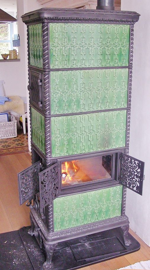 Klus Lucelle model stove with additional large glass door