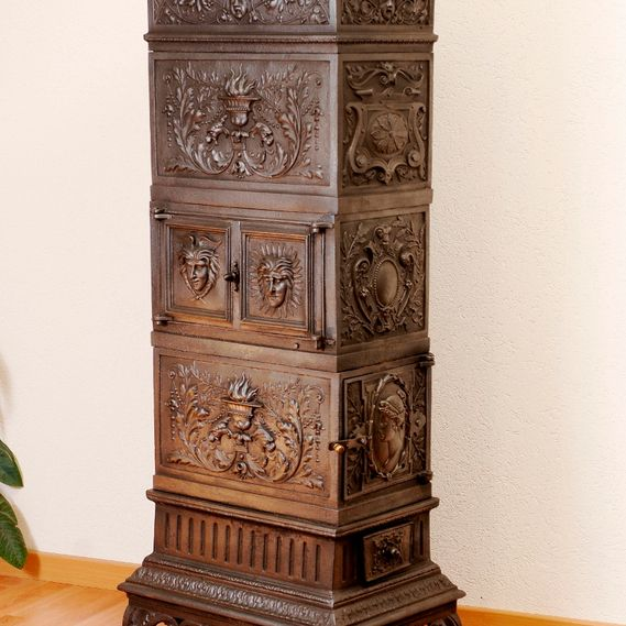 Antique cast-iron stove circa 1880 from the Austro-Hungarian empire